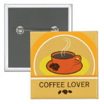 Coffee Cup Coffee Lover Coffee Beans Square Button