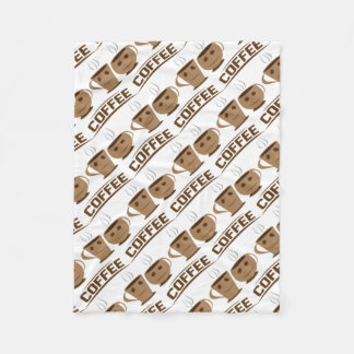 Coffee cup fleece blanket