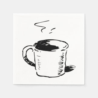 Coffee Cup Illustration Paper Napkins Disposable Napkin