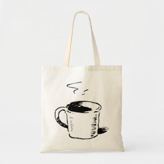 Coffee Cup Illustration Tote Bag