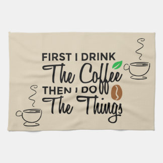 Coffee Cup Kitchen Towel