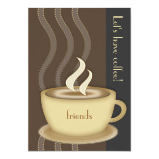 "Coffee Cup Large Invitation 5"" X 7"" Invitation Card"