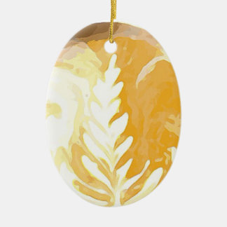 Coffee cup Leaves of Cream Christmas Ornament
