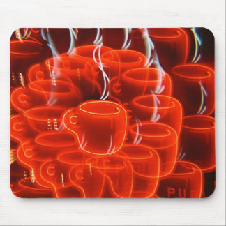 coffee cup madness mouse pad