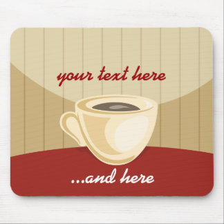 Coffee cup mouse-pad mouse mat