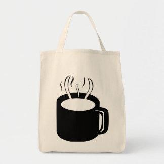 Coffee Cup Mug - Steaming Hot Drink Canvas Bag