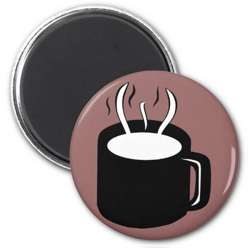 Coffee Cup / Mug - Steaming Hot Drink Magnets