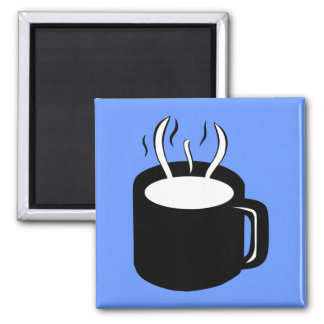 Coffee Cup / Mug - Steaming Hot Drink Square Magnet