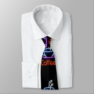 Coffee Cup Neon Sign Tie