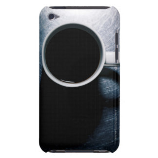 Coffee Cup on Stainless Steel Barely There iPod Cover