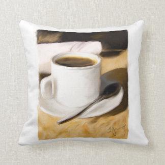 Coffee Cup Original Art Design Pillow