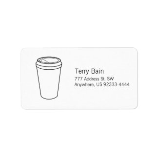 Coffee Cup (Paper To-Go) Address Label