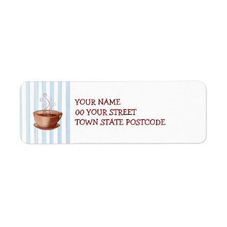 Coffee Cup Return Address Label