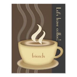 """Coffee Cup Small Invitation 4.25"""" X 5.5"""" Invitation Card"""