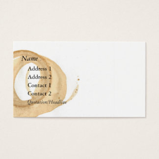 Coffee Cup Stain Standard Business Card