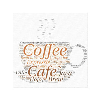 Coffee Cup Subway Art Canvas Print