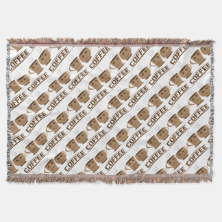 Coffee cup throw blanket