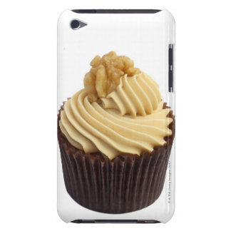 Coffee cupcake topped with coffee cream and a Case-Mate iPod touch case