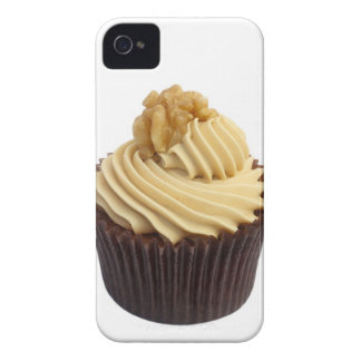 Coffee cupcake topped with coffee cream and a iPhone 4 cover