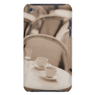 Coffee Cups and Glasses on a Sidewalk Cafe Table Barely There iPod Cases