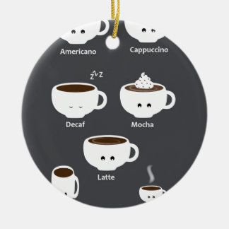 Coffee cups christmas ornament