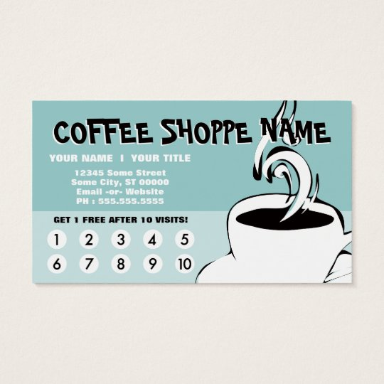 coffee curls loyalty business card