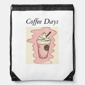 Coffee Days drawstring Drawstring Bag
