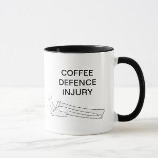 COFFEE DEFENCE INJURY MUG