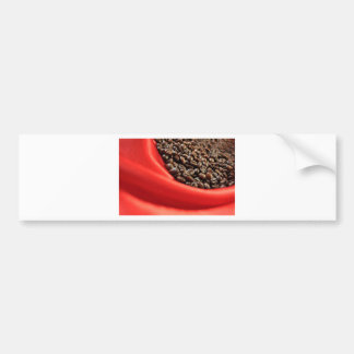 Coffee design bumper sticker