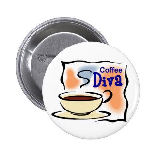 Coffee Diva 6 Cm Round Badge
