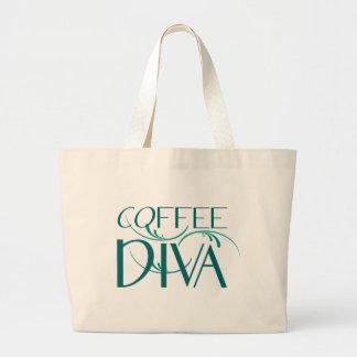 Coffee Diva Jumbo tote Jumbo Tote Bag