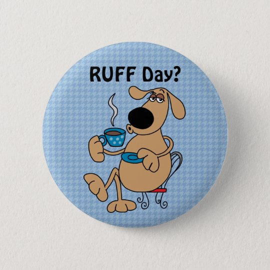 Coffee Dog  2¼ Inch Round Button