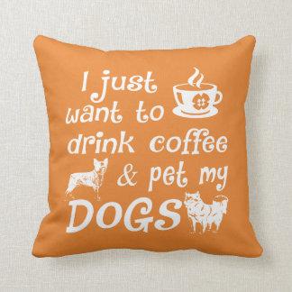 Coffee & Dogs Cushion