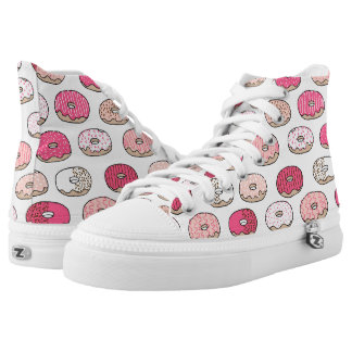 Coffee Donut Sweets Pink Pastel / Andrea Lauren Printed Shoes