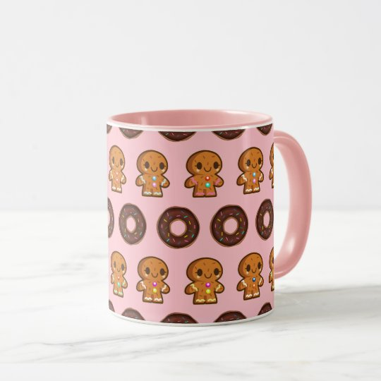 Coffee & Donuts Pink Mug