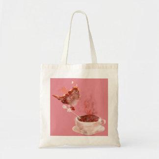 Coffee dragon budget tote bag