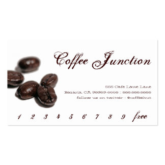 Coffee Drink Punch / Loyalty Card Pack Of Standard Business Cards