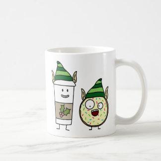 Coffee Elf  and Crazy Donut Elf Coffee Mug
