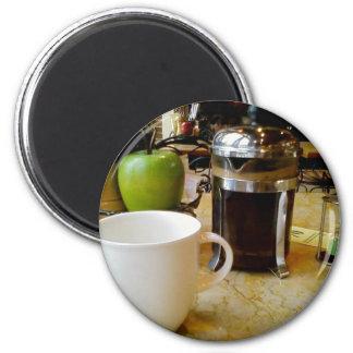 coffee etc 6 cm round magnet
