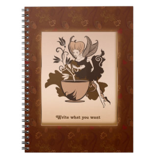 Coffee fairy Personalized Note Book