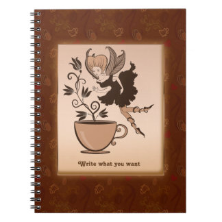 Coffee fairy Personalized Notebooks