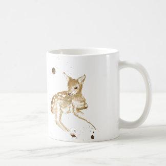 Coffee Fawn Basic White Mug