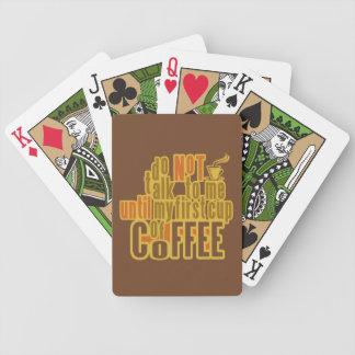 COFFEE FIRST card deck