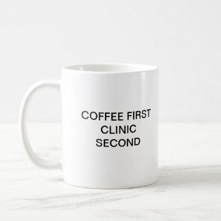 COFFEE FIRST CLINIC SECOND BASIC WHITE MUG