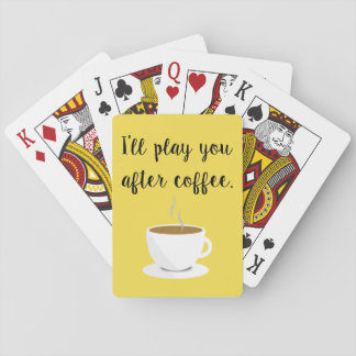 'Coffee First' Deck of Playing Cards