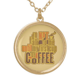 COFFEE FIRST necklace
