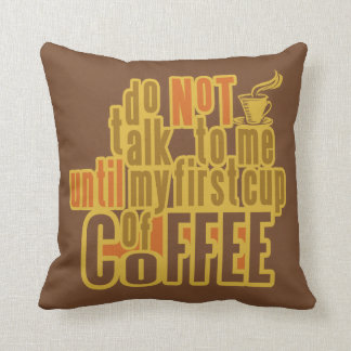 COFFEE FIRST throw pillow