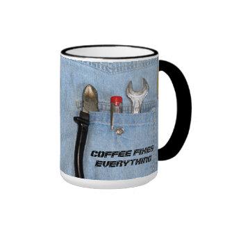 Coffee fixes everything ringer mug