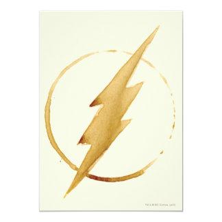 Coffee Flash Symbol 13 Cm X 18 Cm Invitation Card