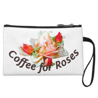 Coffee for Roses Clutch Wristlet Clutch